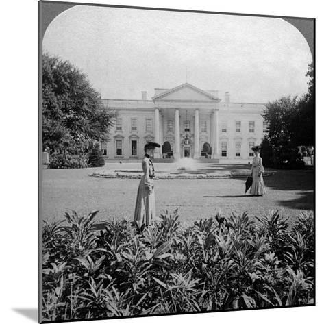 The White House, Washington Dc, USA, C Late 19th Century-Underwood & Underwood-Mounted Photographic Print
