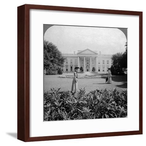 The White House, Washington Dc, USA, C Late 19th Century-Underwood & Underwood-Framed Art Print