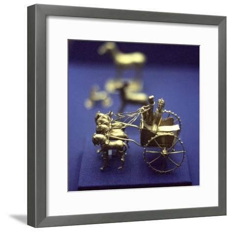 Gold Model Chariot from the Oxus Treasure, Achaemenid Persian, 5th-4th Century BC--Framed Art Print