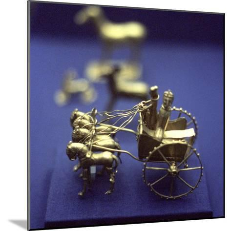 Gold Model Chariot from the Oxus Treasure, Achaemenid Persian, 5th-4th Century BC--Mounted Photographic Print