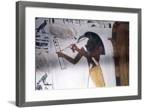Ibis-Headed God Thoth, Secretary to the Gods and Patron of Scribes, Ancient Egyptian--Framed Art Print