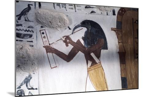 Ibis-Headed God Thoth, Secretary to the Gods and Patron of Scribes, Ancient Egyptian--Mounted Photographic Print