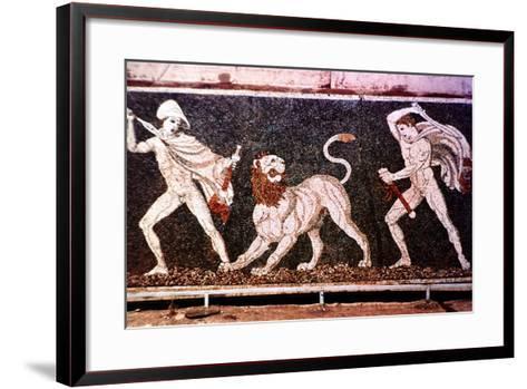 The Lion Hunt, 4th Century Bc--Framed Art Print