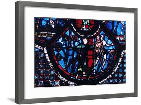 Expulsion from Eden, Stained Glass, Chartres Cathedral, France, 1205-1215--Framed Art Print