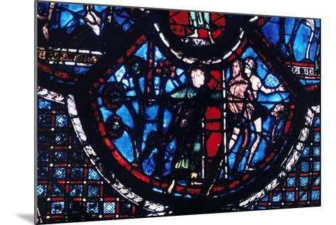 Expulsion from Eden, Stained Glass, Chartres Cathedral, France, 1205-1215--Mounted Photographic Print