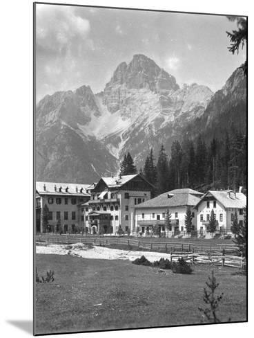Schluderbach and Croda Pass (Croda Ros), Tyrol, Austria, C1900s-Wurthle & Sons-Mounted Photographic Print
