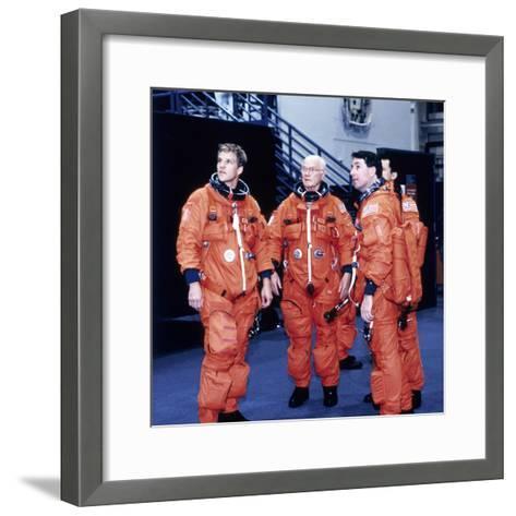 John H Glenn and Crew Members, June 1998--Framed Art Print