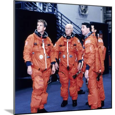 John H Glenn and Crew Members, June 1998--Mounted Photographic Print