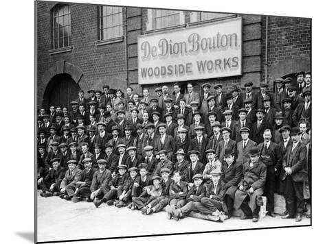 Workers Outside the British De Dion Bouton Works, Early 1920S--Mounted Photographic Print