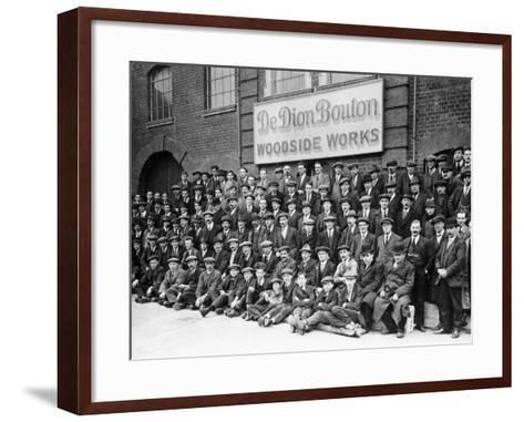 Workers Outside the British De Dion Bouton Works, Early 1920S--Framed Art Print