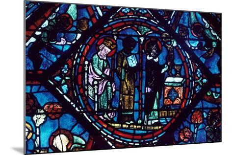 Mass of St Giles, Stained Glass, Chartres Cathedral, France, 1194-1260--Mounted Photographic Print