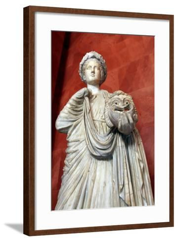 Statue of Thalia, Muse of Comedy--Framed Art Print