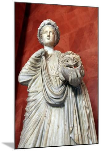 Statue of Thalia, Muse of Comedy--Mounted Photographic Print