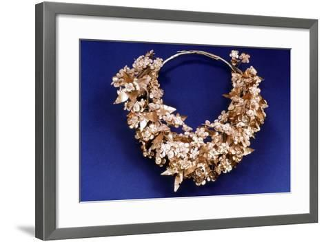 Funerary Wreath from the Macedonian Royal Tombs, 350 Bc-325 BC--Framed Art Print