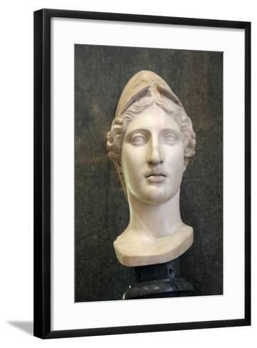 Head of Athena, Goddess of Wisdom and Just War, and Patroness of Crafts, Early 1st Century-Kresilas Kresilas-Framed Art Print