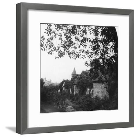 Stadtgraben, Bavaria, Germany, C1900s-Wurthle & Sons-Framed Art Print
