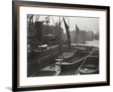 Entrance to St Katharine's Dock, London, C1925--Framed Art Print