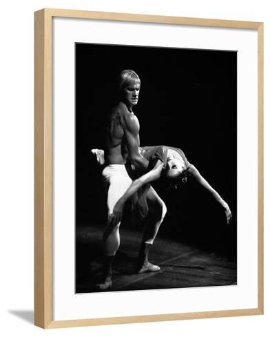 Maya Plisetskaya and Alexander Godunov in the Ballet the Death of the Rose by Gustav Mahler, 1974--Framed Art Print