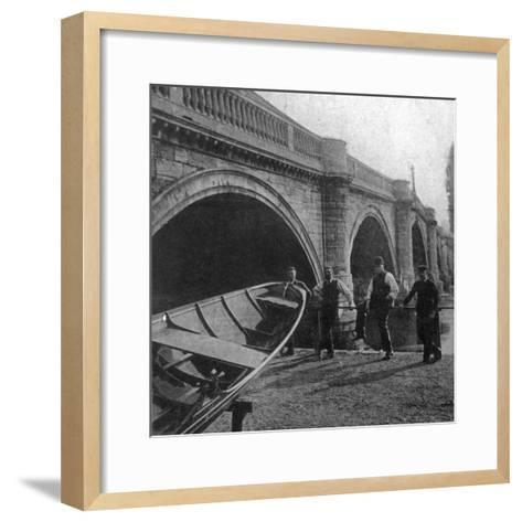 Richmond Bridge, London, Early 20th Century--Framed Art Print