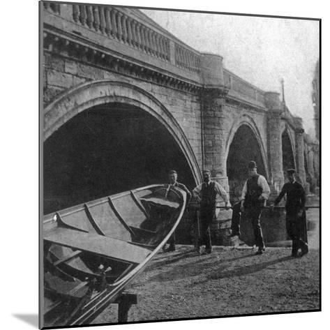 Richmond Bridge, London, Early 20th Century--Mounted Photographic Print