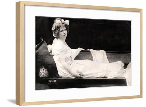 Mabel Love (1874-195), English Actress and Dancer, Early 20th Century--Framed Art Print