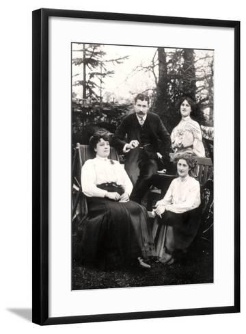 Zena (1887-197) and Phyllis Dare (1890-197), English Actresses, with their Parents, 1906-Foulsham and Banfield-Framed Art Print