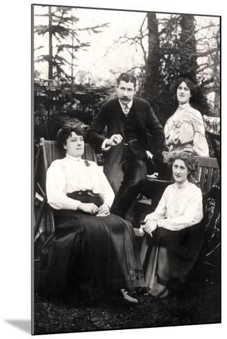 Zena (1887-197) and Phyllis Dare (1890-197), English Actresses, with their Parents, 1906-Foulsham and Banfield-Mounted Photographic Print