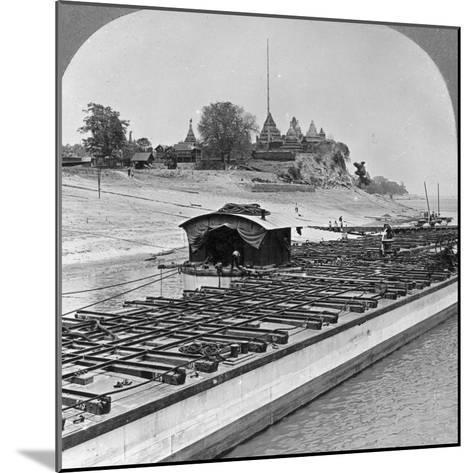 View of Sagaing from the Irrawaddy River, Burma, 1908--Mounted Photographic Print