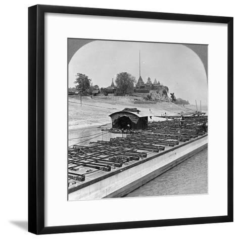 View of Sagaing from the Irrawaddy River, Burma, 1908--Framed Art Print