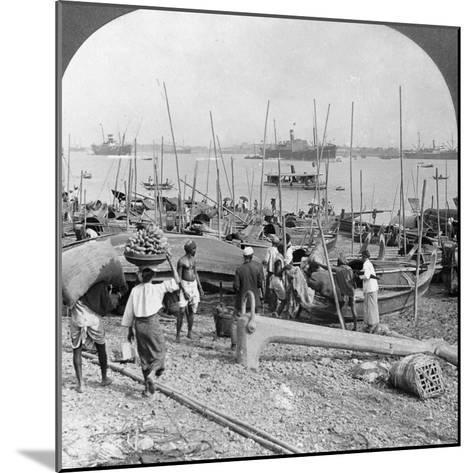 Harbour of Rangoon on the Irawaddy River, Burma, 1908--Mounted Photographic Print