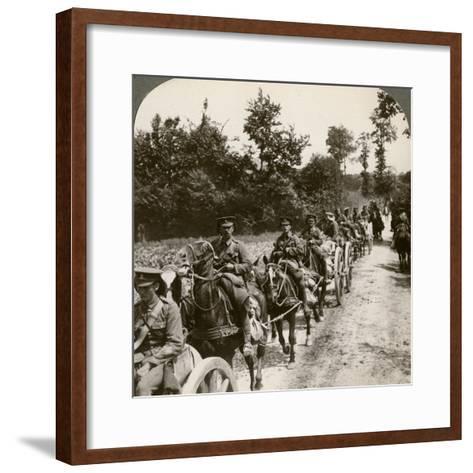 Bringing Up Reserve Ammunition, World War I, 1914-1918--Framed Art Print
