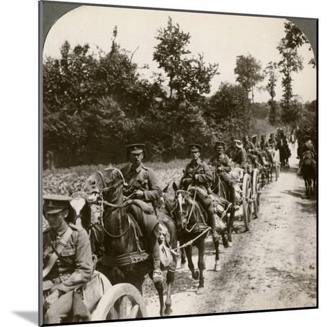 Bringing Up Reserve Ammunition, World War I, 1914-1918--Mounted Photographic Print