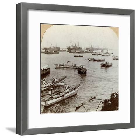 Colombo Harbour, Ceylon (Sri Lank)--Framed Art Print