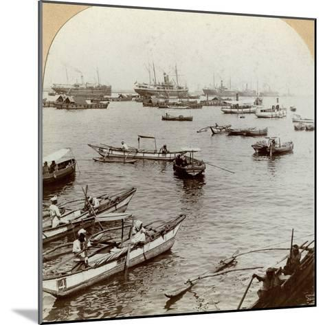 Colombo Harbour, Ceylon (Sri Lank)--Mounted Photographic Print