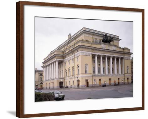 The Alexandrinsky Theatre in Saint Petersburg, 1828-1832-Carlo Rossi-Framed Art Print