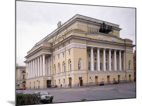 The Alexandrinsky Theatre in Saint Petersburg, 1828-1832-Carlo Rossi-Mounted Photographic Print