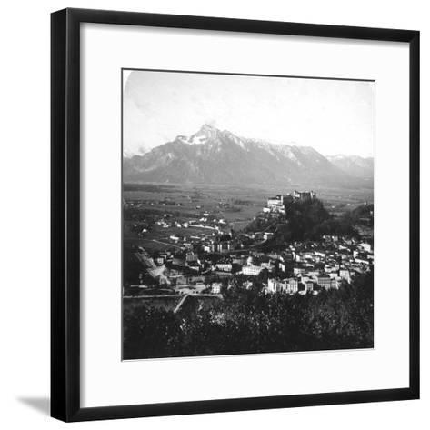 The Kapuzinerberg, Salzburg, Austria, C1900-Wurthle & Sons-Framed Art Print