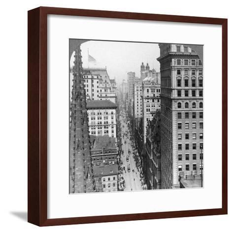 From the Empire Building Past Trinity Church Up Broadway, 1902-Underwood & Underwood-Framed Art Print