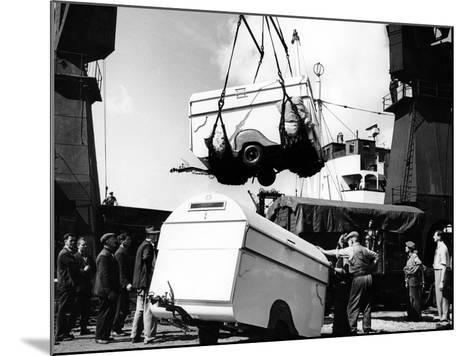 Unloading Trailers from a Ship, C1950s--Mounted Photographic Print
