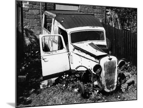 Wreck of a 1939 Austin 10--Mounted Photographic Print