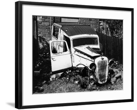 Wreck of a 1939 Austin 10--Framed Art Print