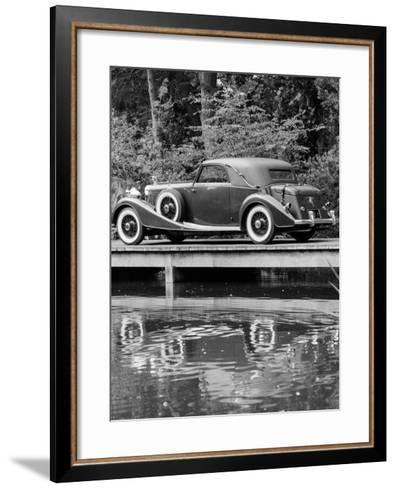 A 1933 Hispano-Suiza K6 Reflected in a Lake--Framed Art Print