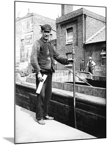 Grand Union Canal Lock Keeper, C1905--Mounted Photographic Print