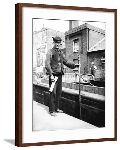 Grand Union Canal Lock Keeper, C1905--Framed Art Print