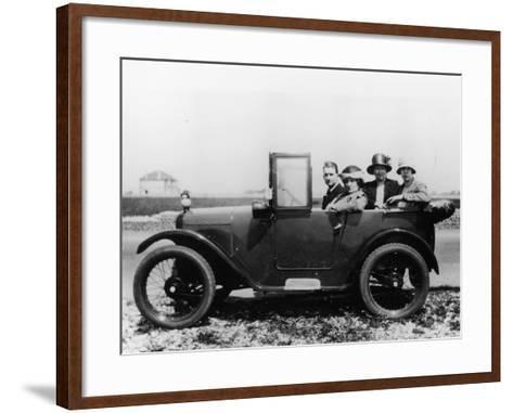 An Austin Seven Chummy with Passengers, 1925--Framed Art Print