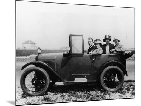 An Austin Seven Chummy with Passengers, 1925--Mounted Photographic Print