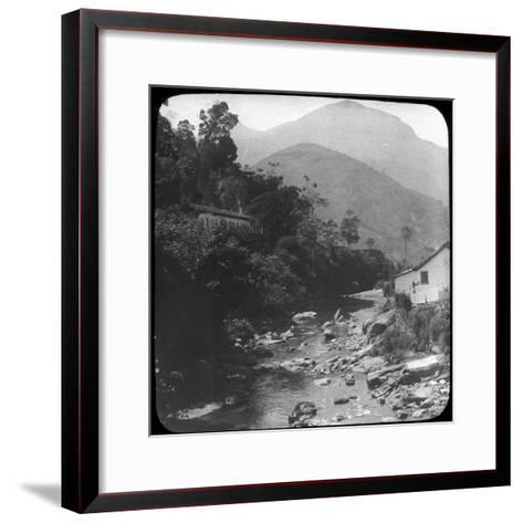 Near Petrópolis, Rio De Janeiro, Brazil, Late 19th or Early 20th Century--Framed Art Print