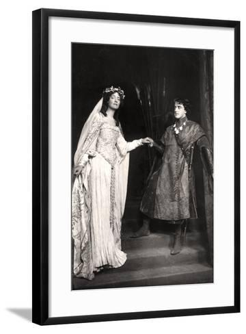Dorothea Baird and Harcourt Williams (1880-195) in Paola and Francesca, 1907-Foulsham and Banfield-Framed Art Print