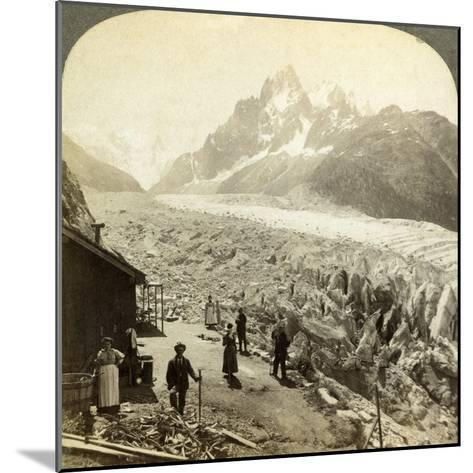 Mer De Glace from the 'Chapeau, Near Chamonix, France-Underwood & Underwood-Mounted Photographic Print