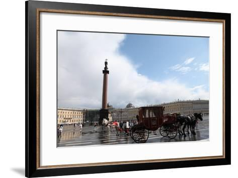 Horse-Drawn Carriage in Palace Square, St Petersburg, Russia, 2011-Sheldon Marshall-Framed Art Print